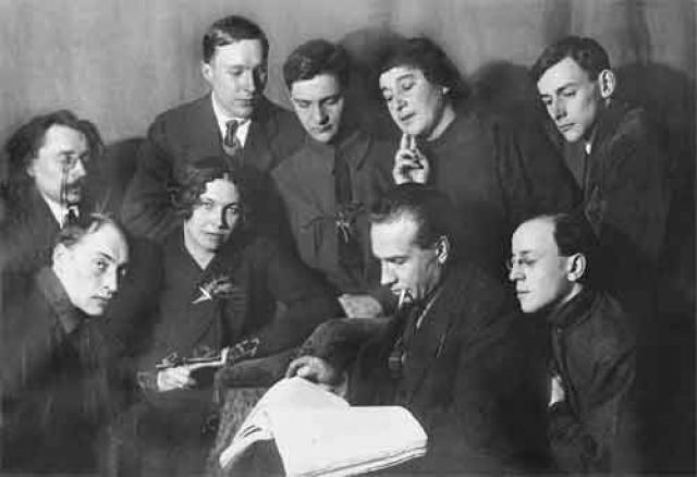 Члены Ленинградского отдела Всероссийского союза поэтов. 1925