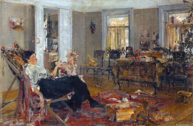 Николай Фешин. Елка. 1917