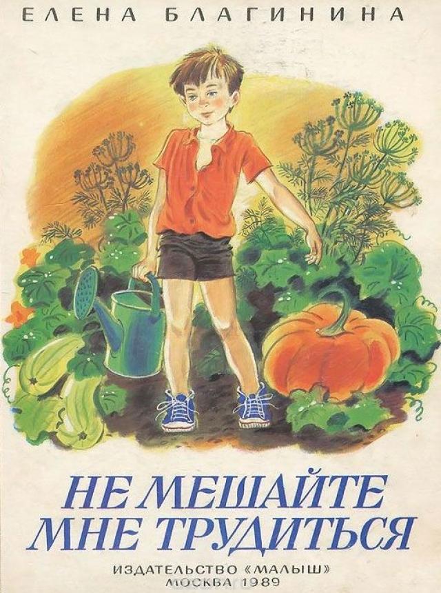 Книга «Не мешайте мне трудиться» Елены Благининой