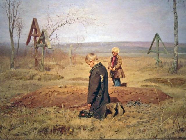Николай Касаткин. Осиротели. 1891