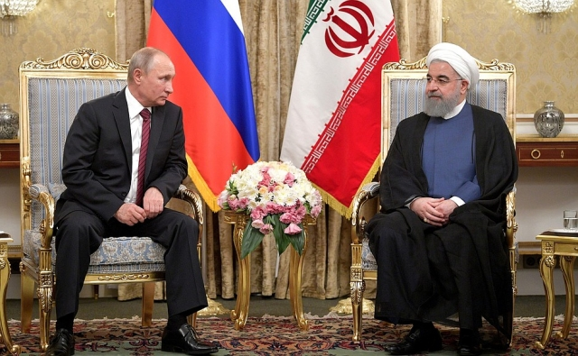 Встреча Владимира Путина с Президентом Ирана Хасаном Рухани