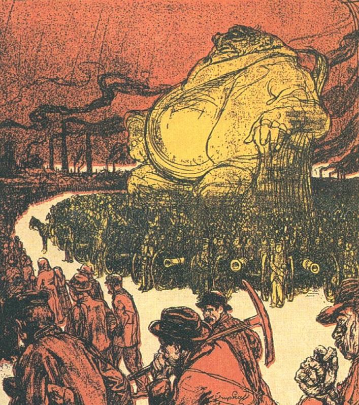 Владыка мира — капитал, золотой кумир. Советский плакат
