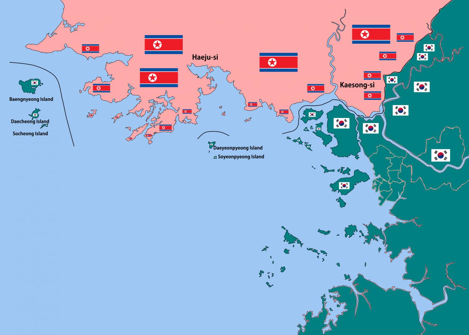 Морская граница между Южной Кореей и КНДР