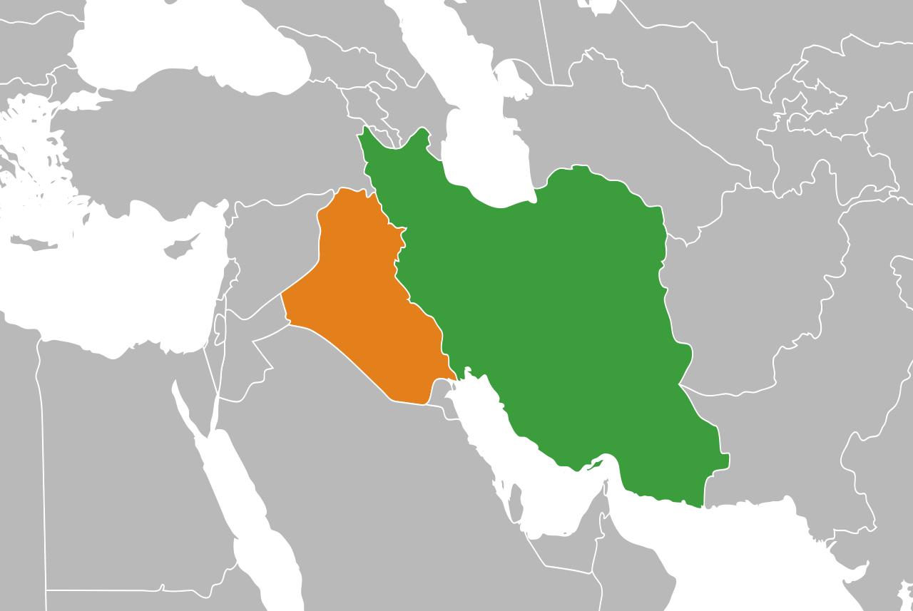 Иран и Ирак на карте мира