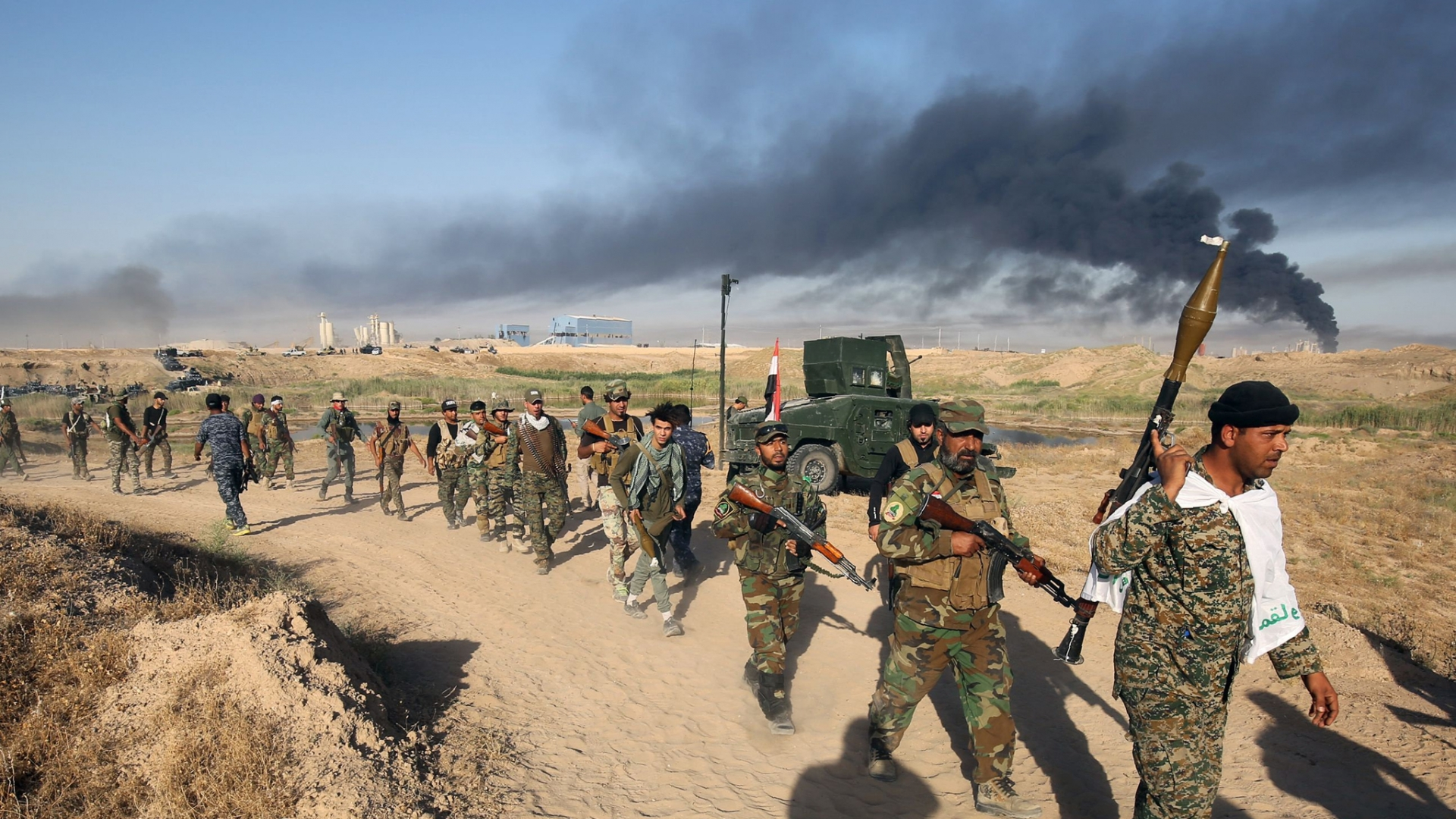 Иракские солдаты. Мосул. 2016
