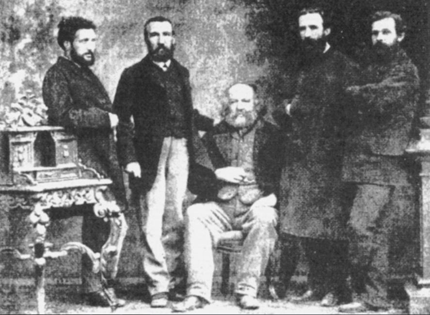 Михаил Бакунин и члены 1-го интернационала