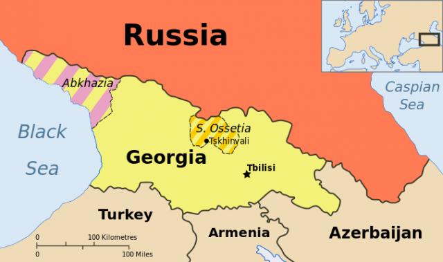 Карта Грузии и непризнанных республик