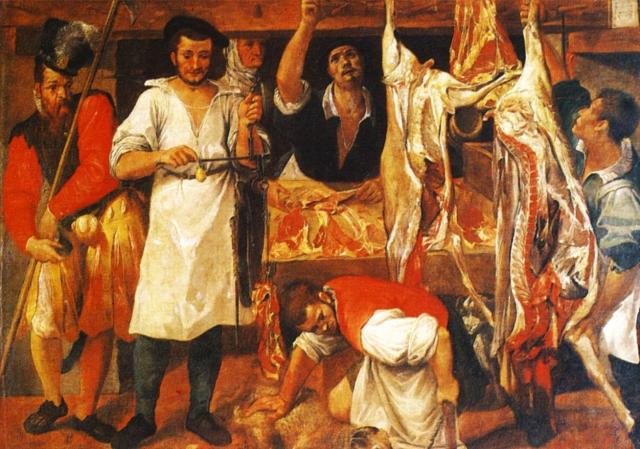 Аннибале Караччи. Мясная лавка. 1583