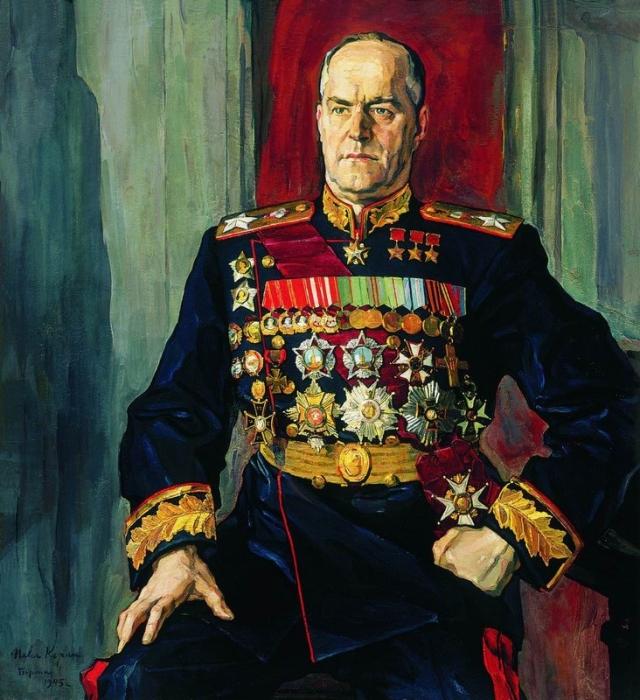 Павел Корин. Портрет маршала Г. К. Жукова. 1945
