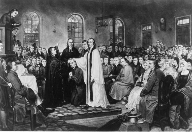 Методистский епископ Томас Коук рукополагает американского священника