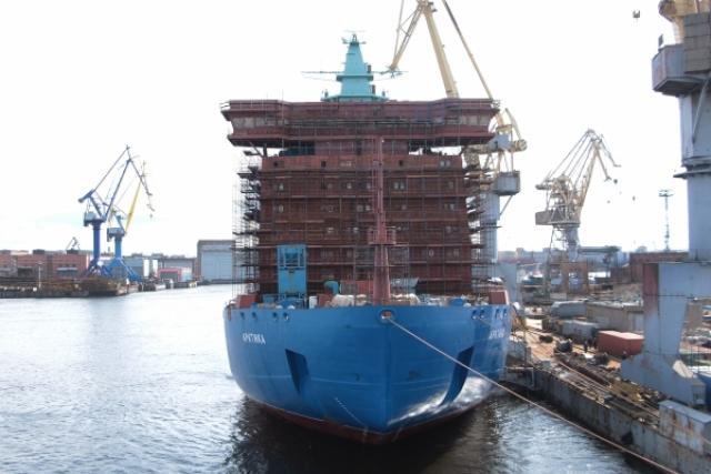Швартовые испытания ледокола «Арктика»