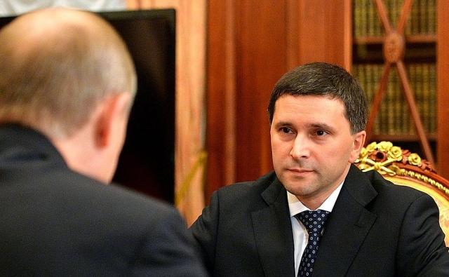 Дмитрий Кобылкин на встрече с Владимиром Путиным