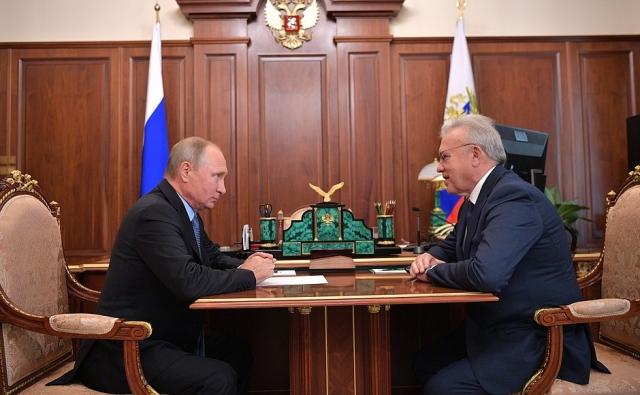 Встреча Александра Усса с Владимиром Путиным