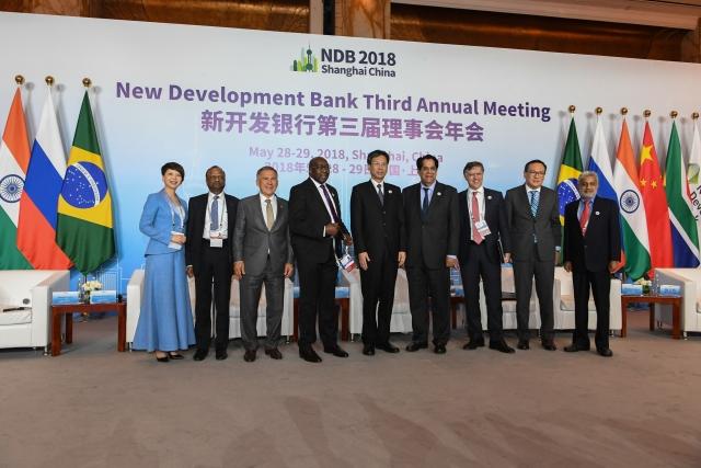 Рустам Минниханов на церемонии открытия III ежегодного заседания Нового банка развития