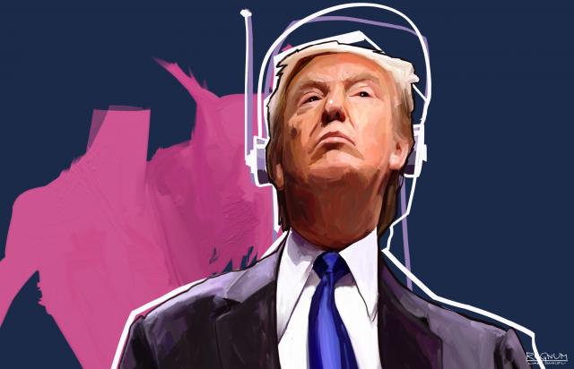 Трамп закручивает гайки внутри и натягивает тетиву наружу. Беззвучно