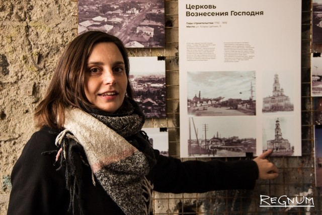 На нижнем этаже — выставка «Существующие и исчезнувшие башни Екатеринбурга и Свердловска». Представлены башни и фотографии города, сделанные с этих башен