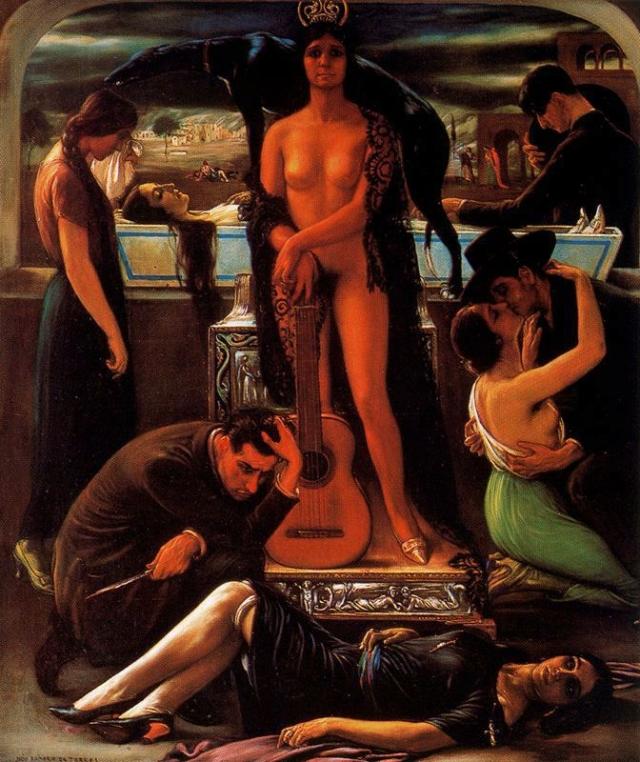 Хулио Ромеро де Торрес. Канте-хондо. 1929