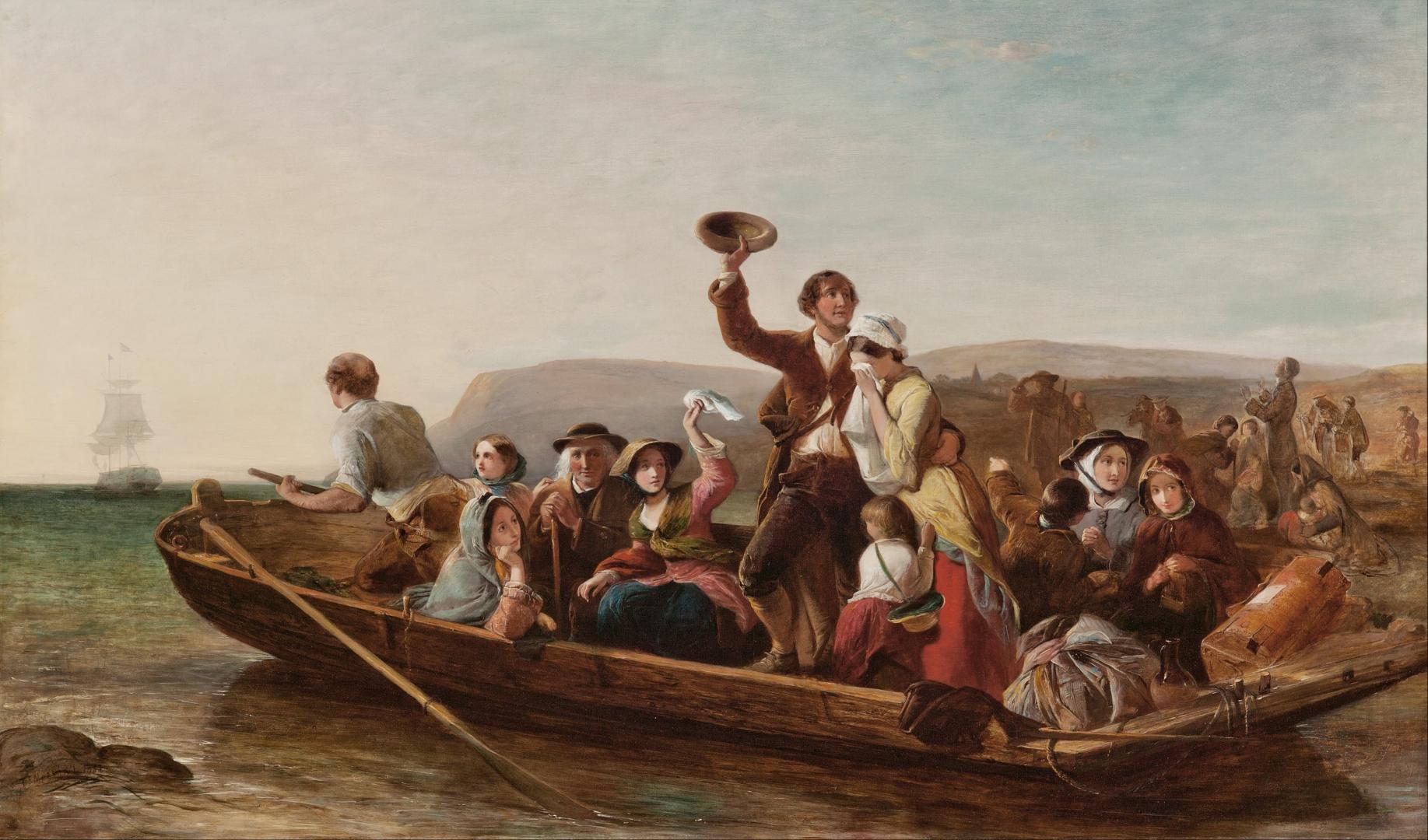 Томас Фалкон Маршалл. Эмиграция. 1852
