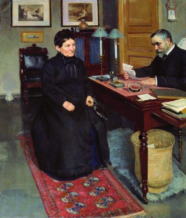 Николай Неврев. Просительница. 1880-е