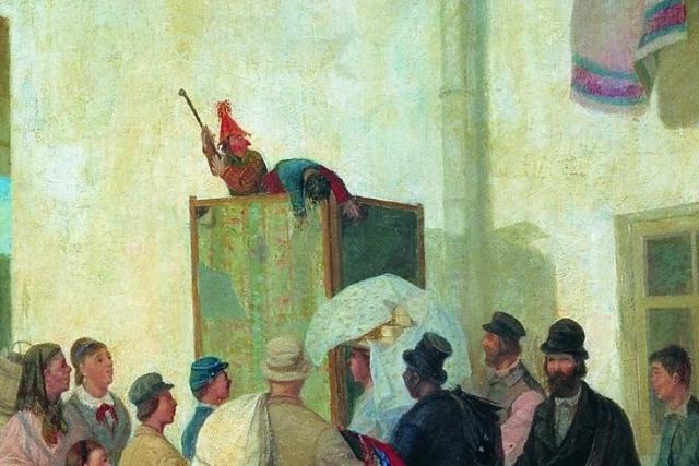 Леонид Иванович Соломаткин. Петрушка (фрагмент). 1882