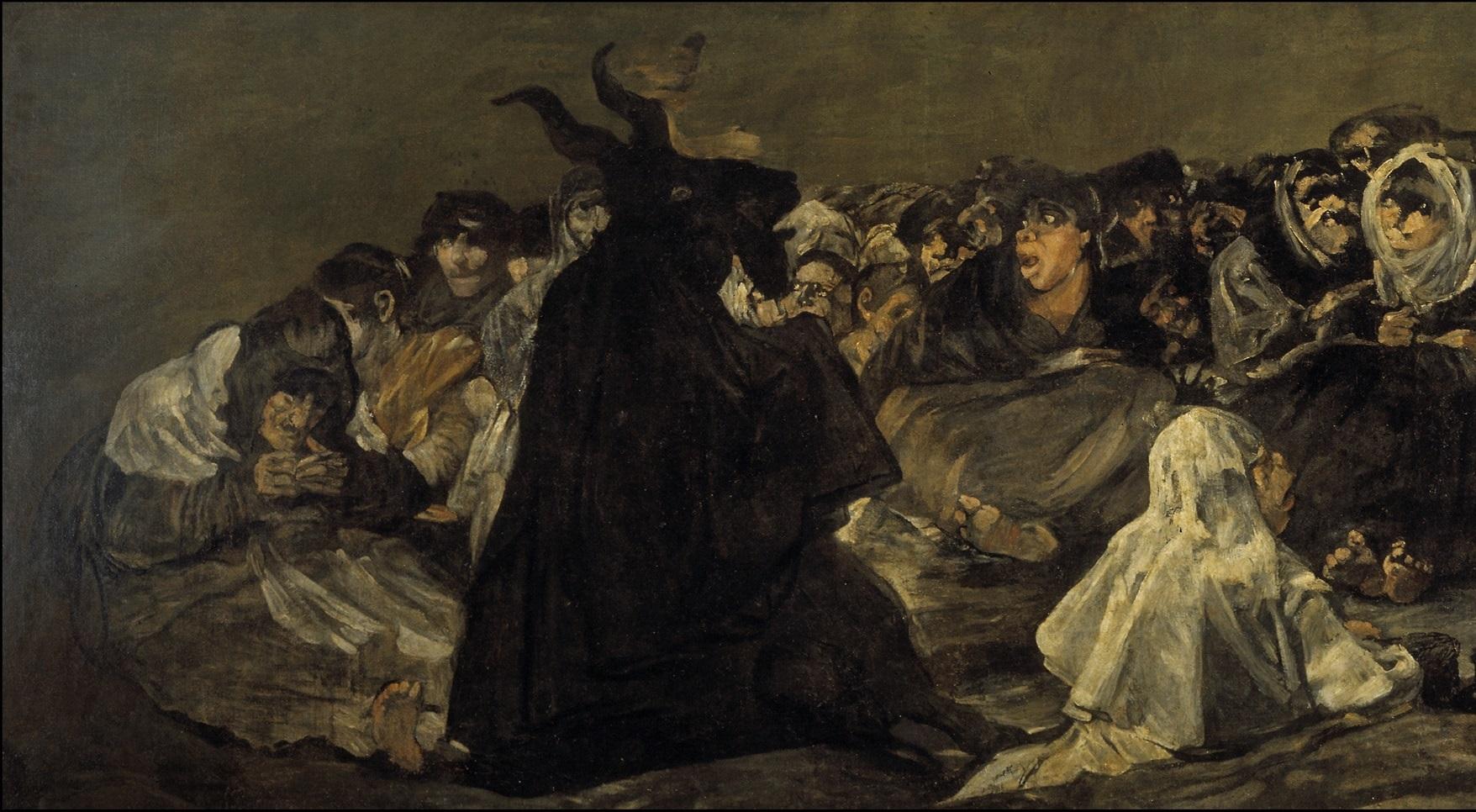 Франсиско Гойя. Шабаш ведьм (фрагмент). 1823