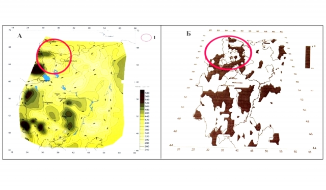 Рис. 7. Проявления тектонического узла