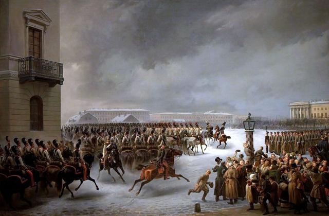 Василий Тимм. Декабристы на Сенатской площади