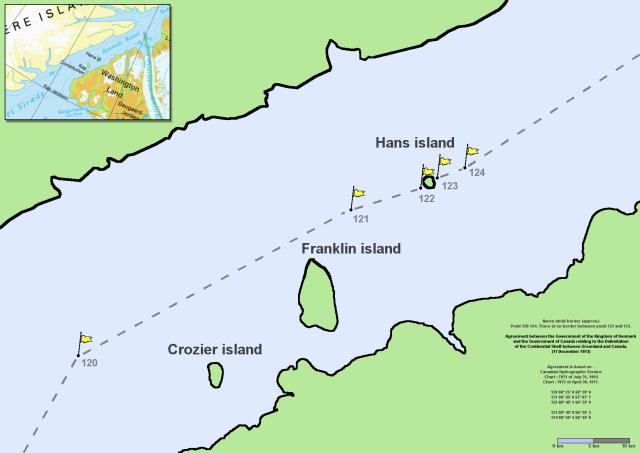 Остров Ганса на карте