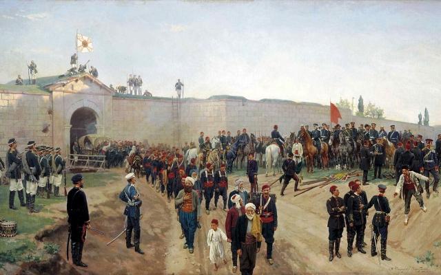 Николай Дмитриев-Оренбургский. Сдача крепости Никополь 4 июля 1877 г. 1883