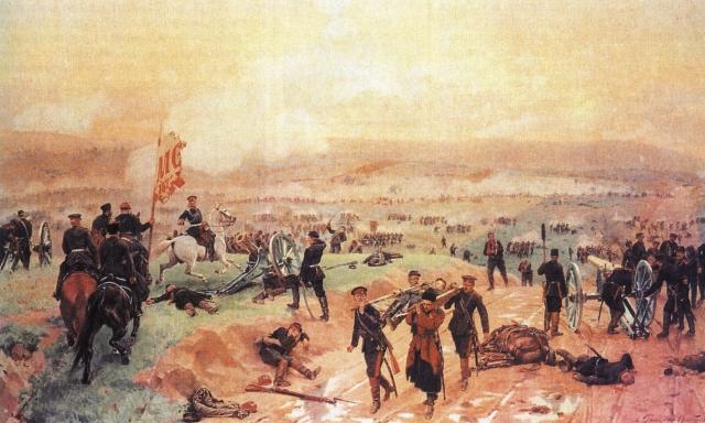 Николай Дмитриев-Оренбургский. Бой под Плевной 27 августа 1877 г. 1883
