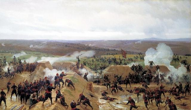Николай Дмитриев-Оренбургский. Захват Гривицкого редута под Плевной. 1885