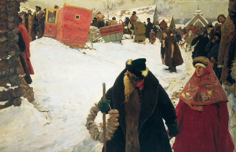 Сергей Иванов. Приезд иностранцев. XVII век. 1901