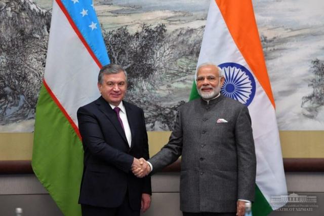 Президент Узбекистана поздравил Индию со вступлением в ШОС