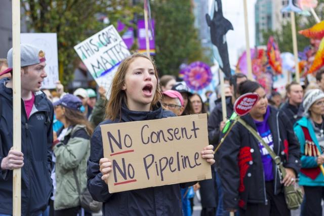 Протесты против трубопровода