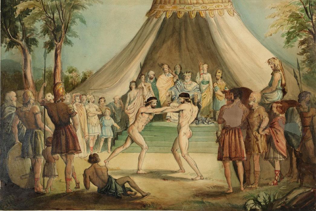 Джон Эверетт Милле. Борцы. 1840-1841