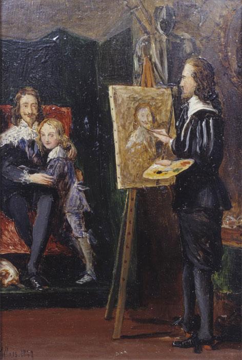 Джон Эверетт Милле. Карл I с сыном в мастерской Ван Дейка. 1849