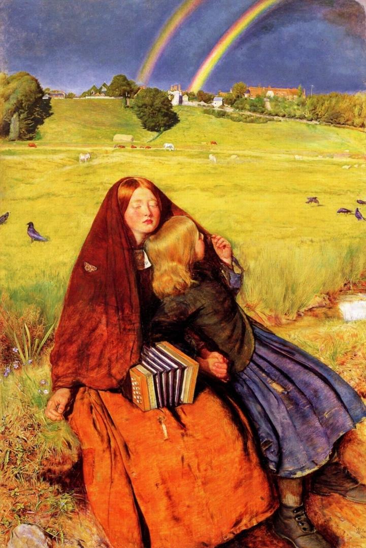 Джон Эверетт Милле. Слепая девушка. 1855