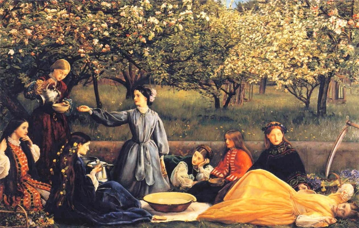 Джон Эверетт Милле. Цветущая яблоня (Весна). 1856-1859