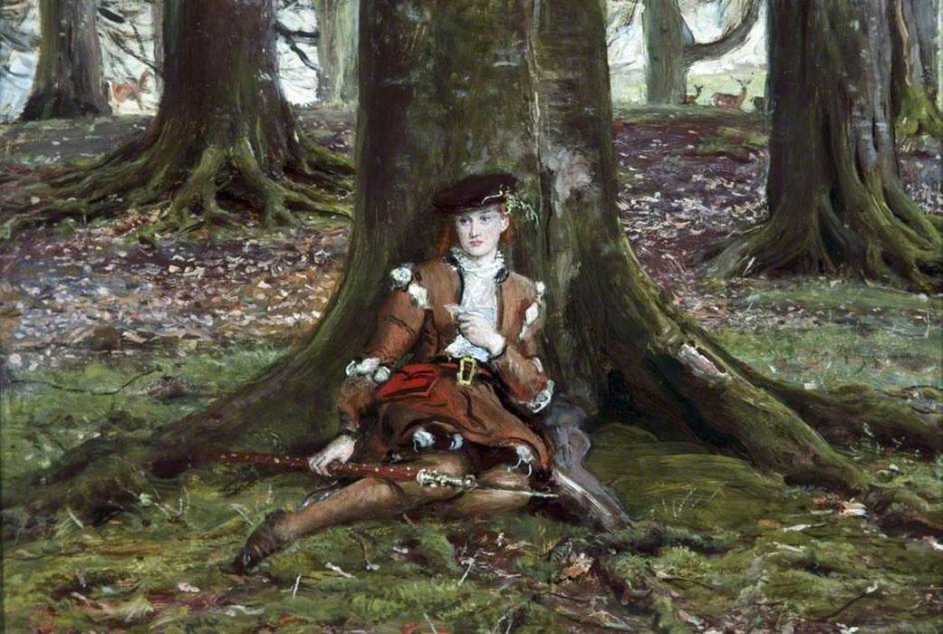 Джон Эверетт Милле. Розалинда в лесу. 1870