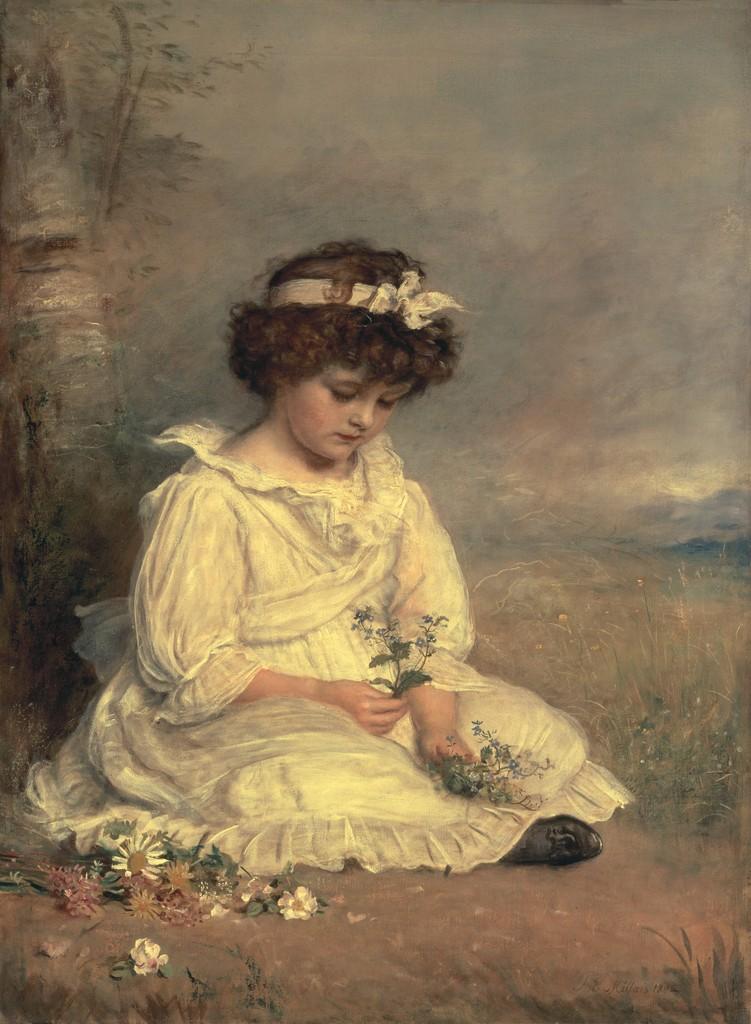 Джон Эверетт Милле. Маленькая девочка. 1892