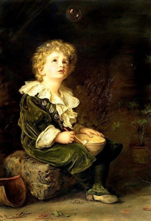Джон Эверетт Милле. Мыльные пузыри (Уильям Милборн Джеймс, внук художника). 1886
