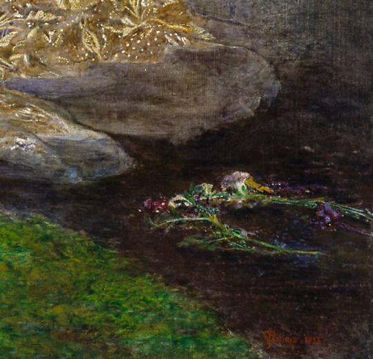 Джон Эверетт Милле. Офелия. 1851—1852 (фрагмент)