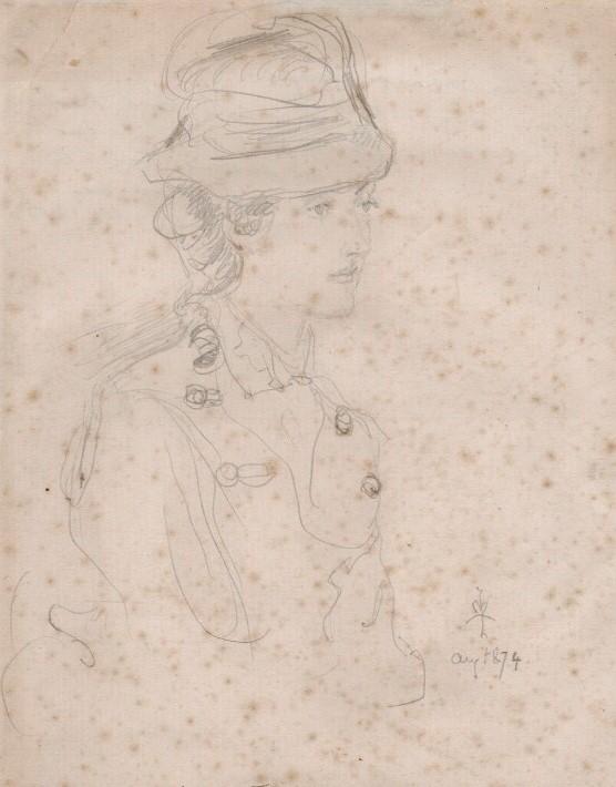 Джон Эверетт Милле. Эвелин Майерс. 1874