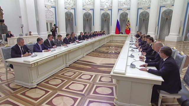 Владимир Путин и Правительство РФ