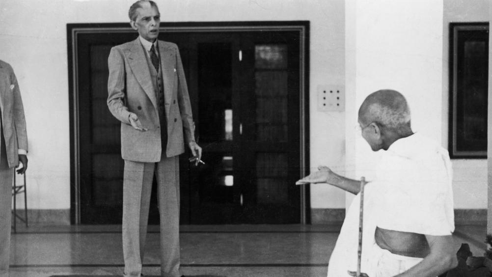 Мухаммад Али Джинна и Махатма Ганди на встрече в 1939 году