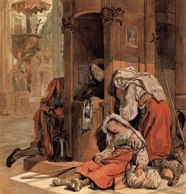Карл Брюллов. Исповедь итальянки. 1827-1830