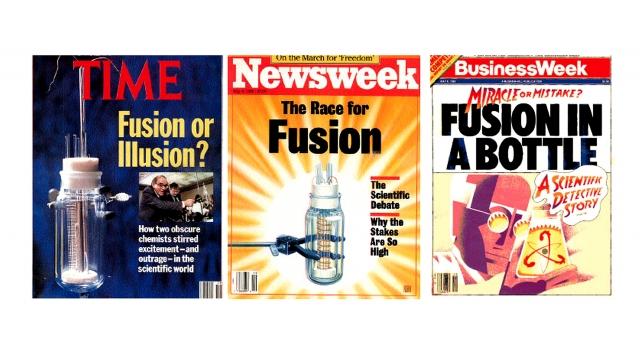 Популярные американские журналы, которые написали об открытии Мартина Флейшмана и Стенли Понса