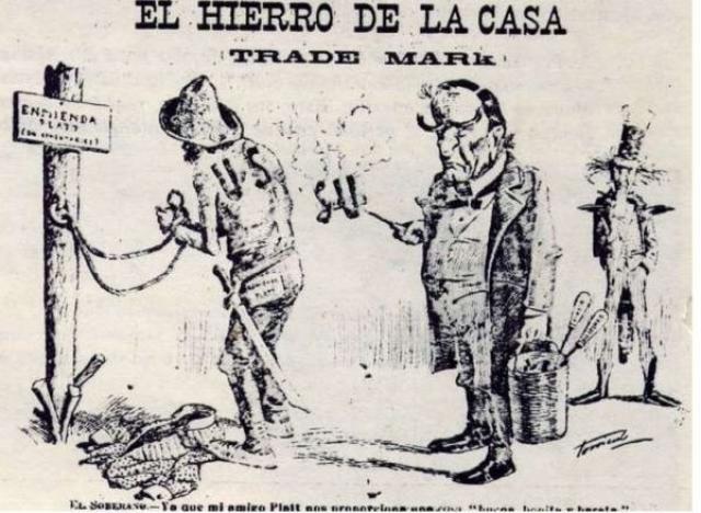 Карикатура на принятие поправки Платта