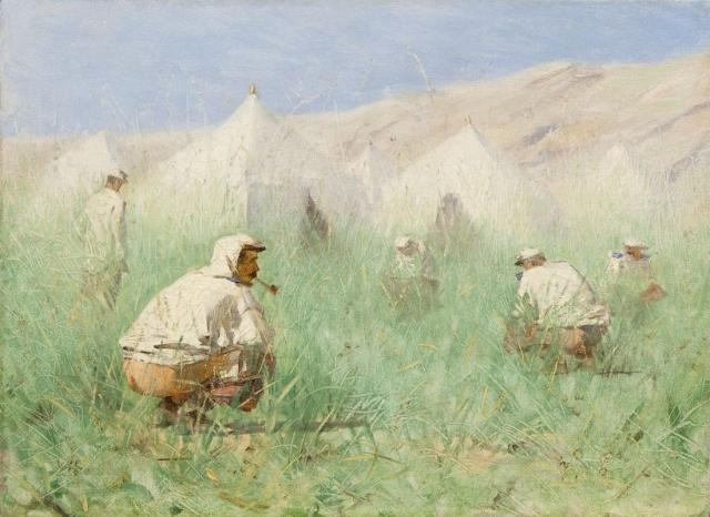 Василий Верещагин. Русский лагерь в Туркестане. 1860-е