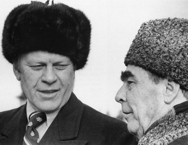 Джеральд Форд и Леонид Брежнев. 1974